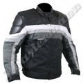 Mens Cordura Motorbike Jacket with Leather Trim JEI 7571