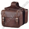 Premium Brown Leather Classic Style Zip Off Motorcycle Saddlebags JEI-7878