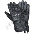 Black Leather Motorcycle Racing Gloves JEI-4035