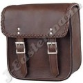 Brown Leather Motorcycle Sissy Bar Bag JEI-7952