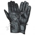 Black Leather Motorcycle Racing Gloves JEI-4033
